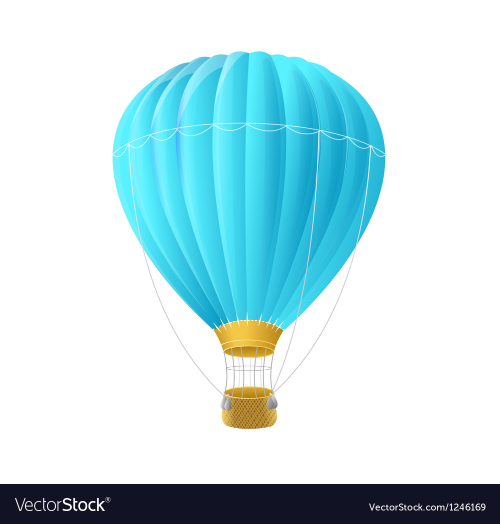 Blue air ballon isolated on white vector | Price: 1 Credit (USD $1)