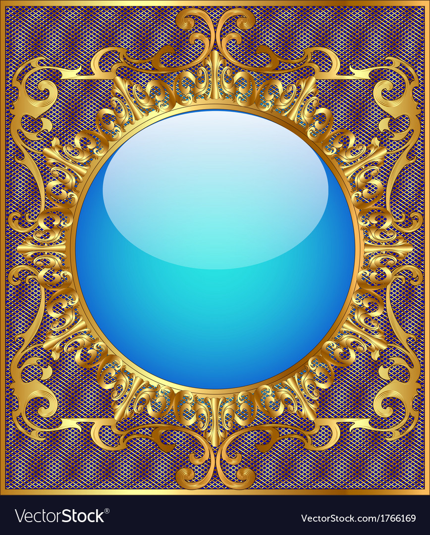 Round background frame vector | Price: 1 Credit (USD $1)
