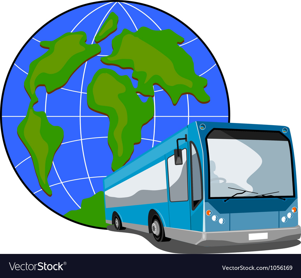 Shuttle coach bus retro vector | Price: 3 Credit (USD $3)