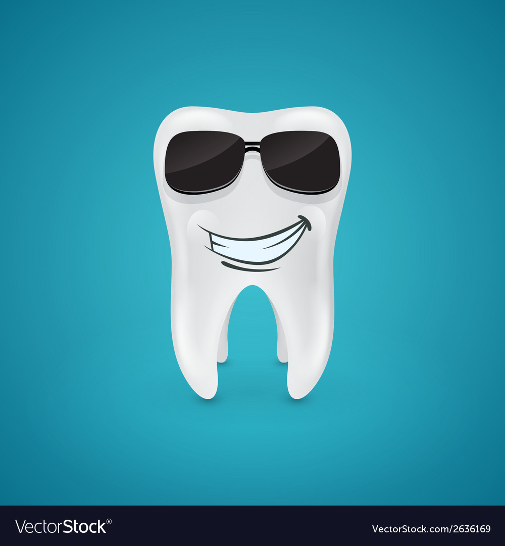 Steep and healthy tooth vector | Price: 1 Credit (USD $1)