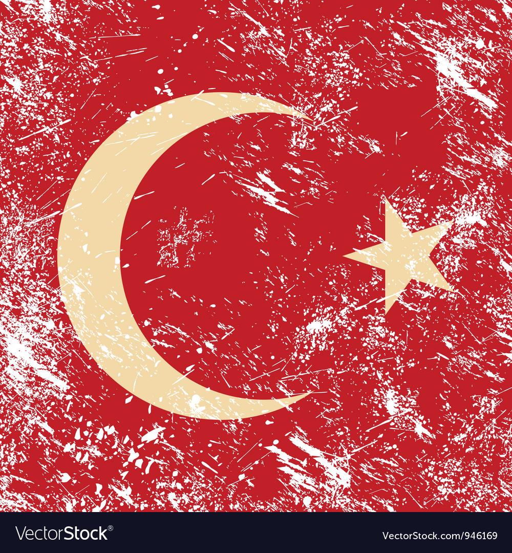 Turkey retro flag vector | Price: 1 Credit (USD $1)