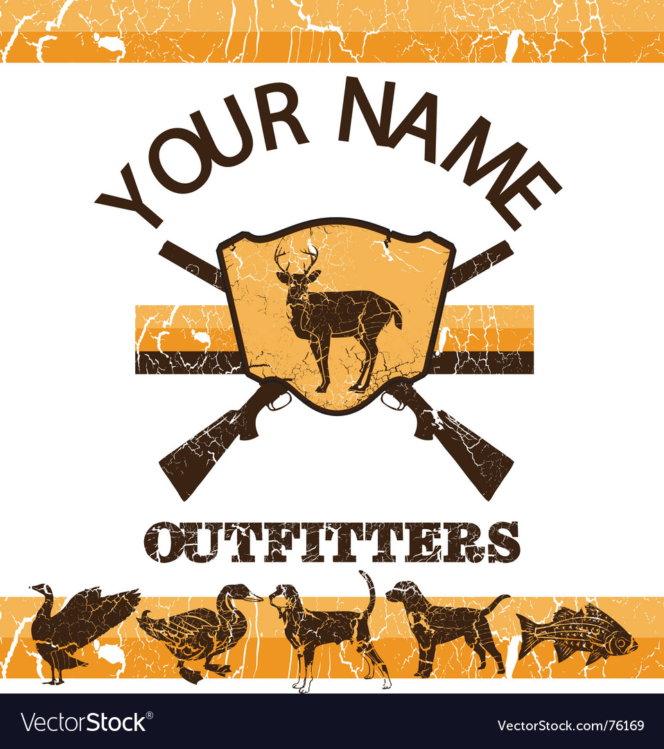 Vintage hunting sign vector | Price: 1 Credit (USD $1)