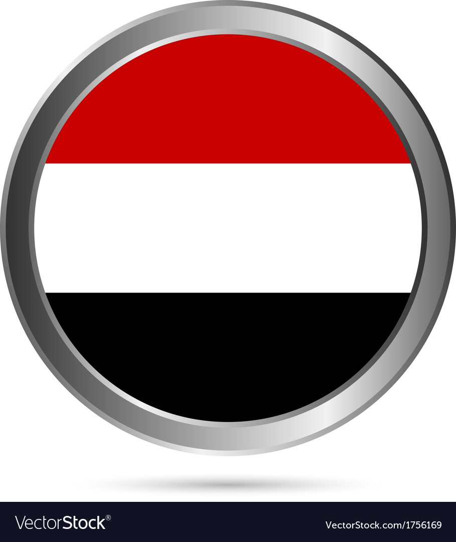 Yemen flag button vector | Price: 1 Credit (USD $1)
