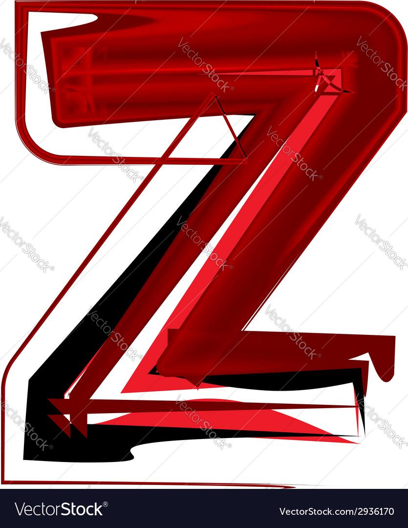 Artistic font letter z vector | Price: 1 Credit (USD $1)