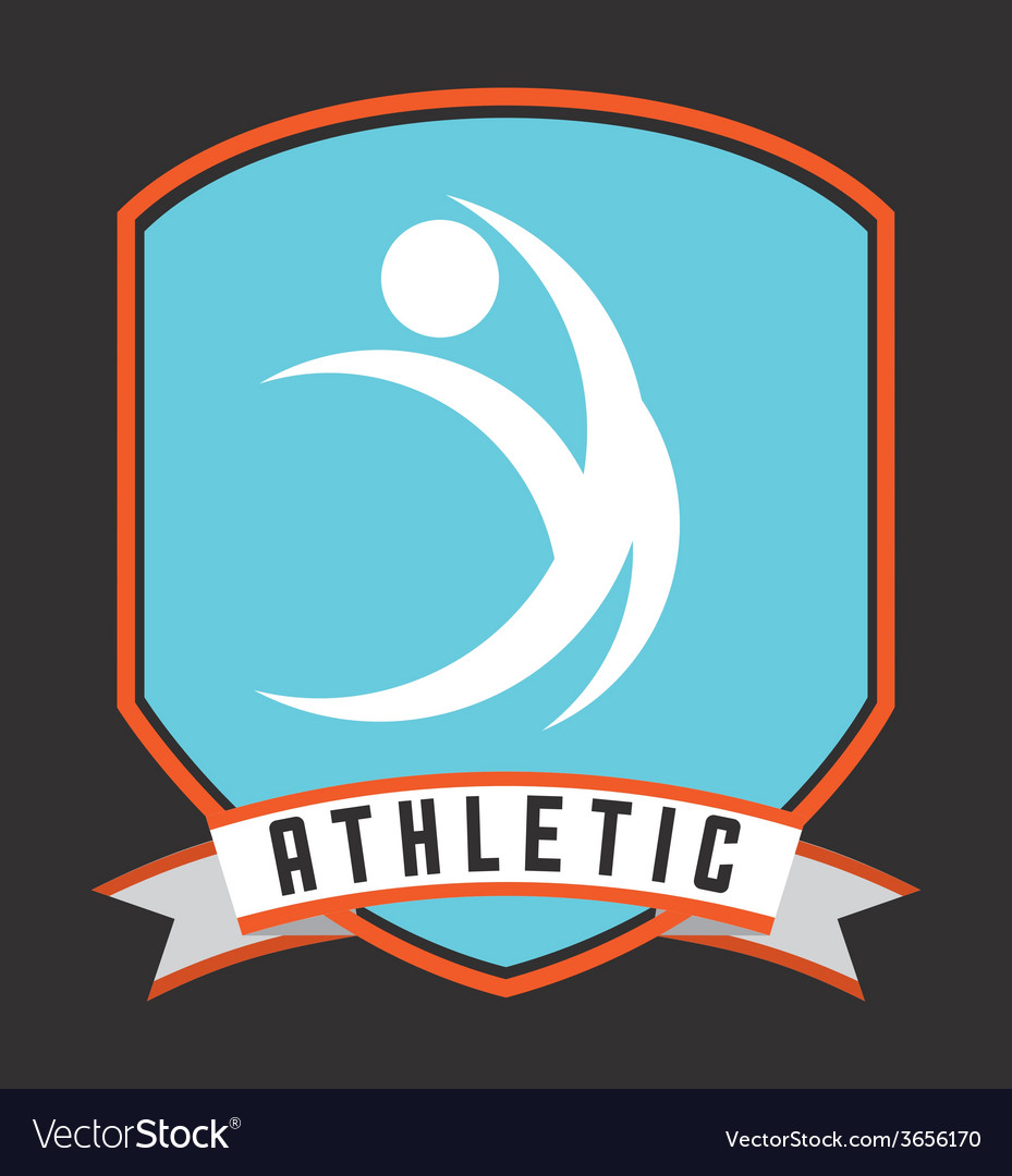 Athletic sport vector