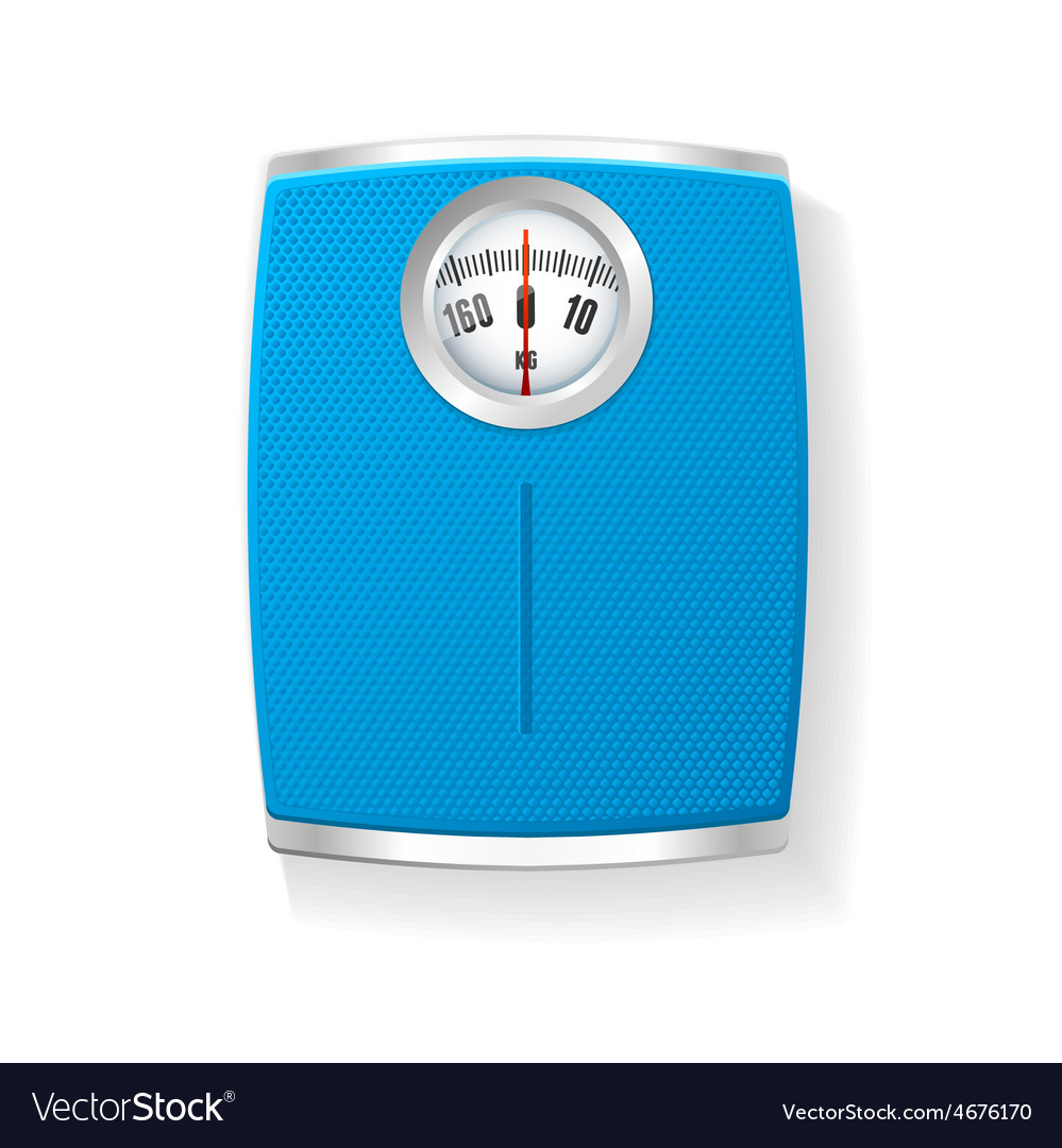 Bathroom scale isolated on a white vector | Price: 1 Credit (USD $1)