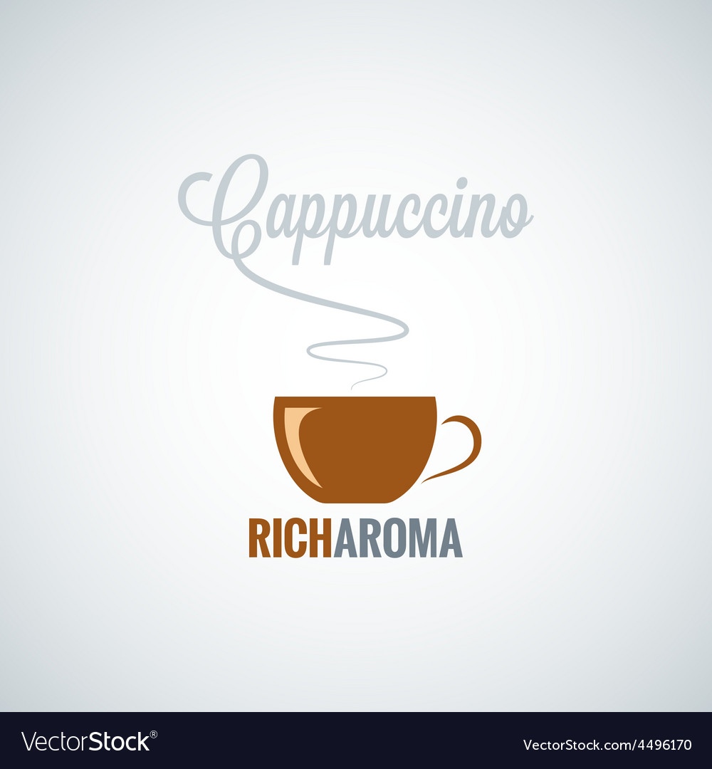 Cappuccino cup design background vector | Price: 1 Credit (USD $1)