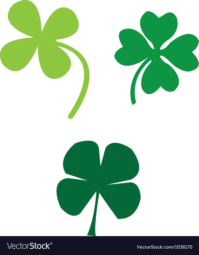 Clovers vector | Price: 1 Credit (USD $1)