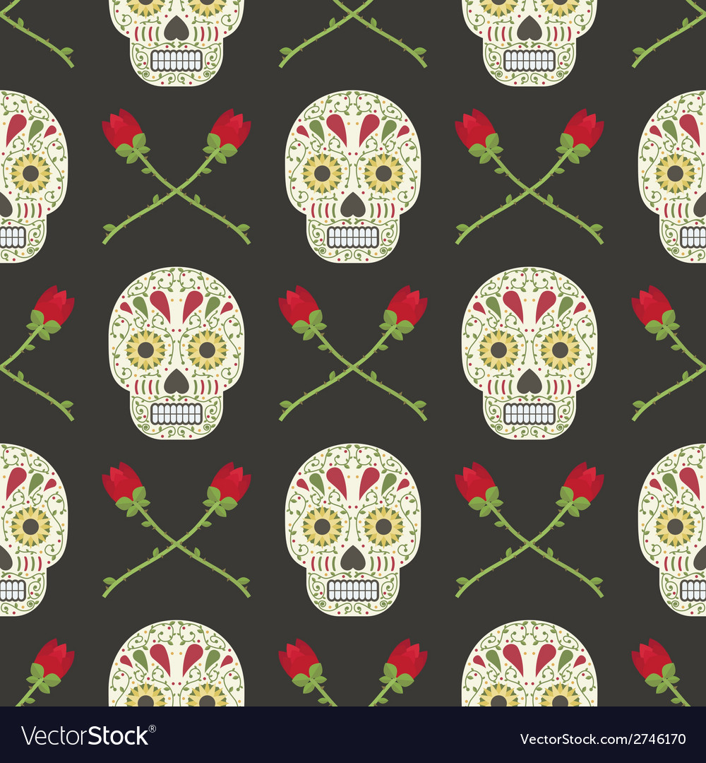 Day of the dead pattern vector | Price: 1 Credit (USD $1)
