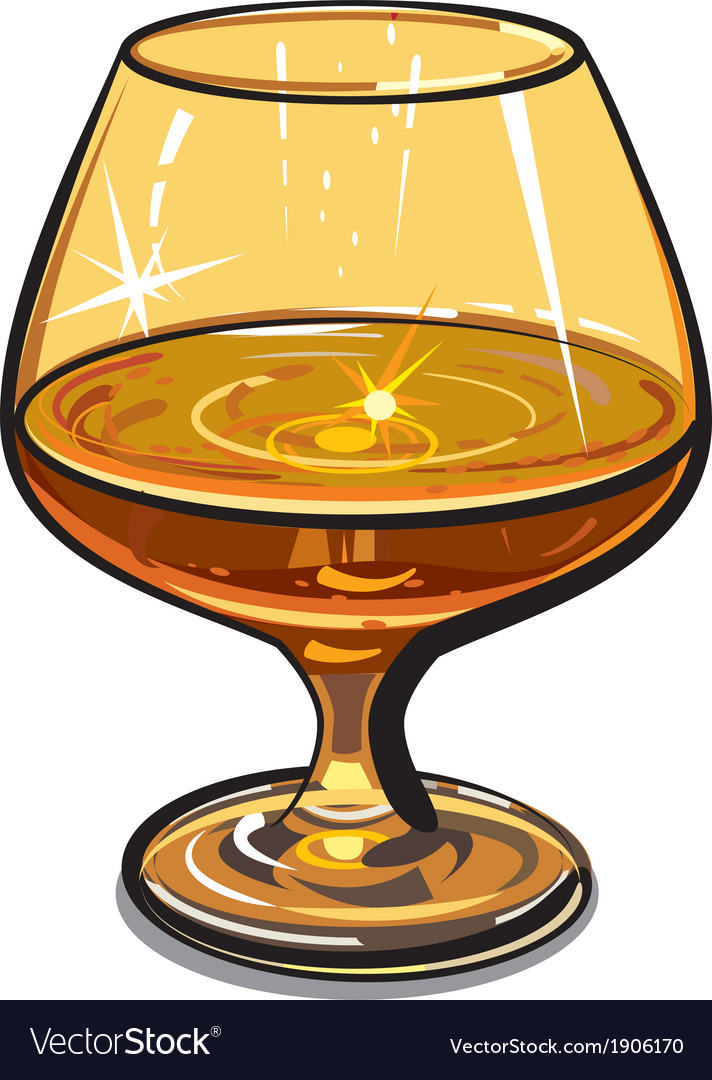 Glass of cognac vector | Price: 1 Credit (USD $1)