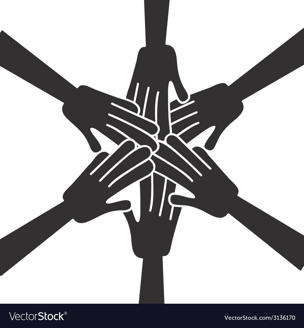 Hands help design vector | Price: 1 Credit (USD $1)