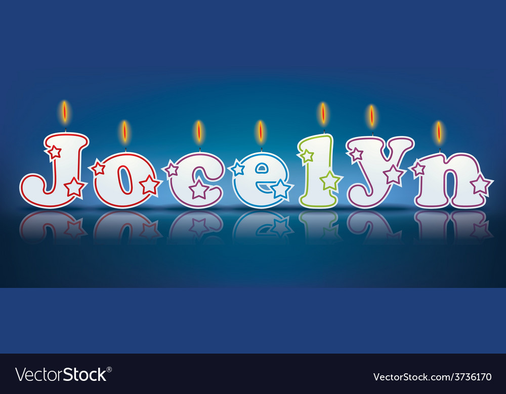 Jocelyn written with burning candles vector | Price: 1 Credit (USD $1)