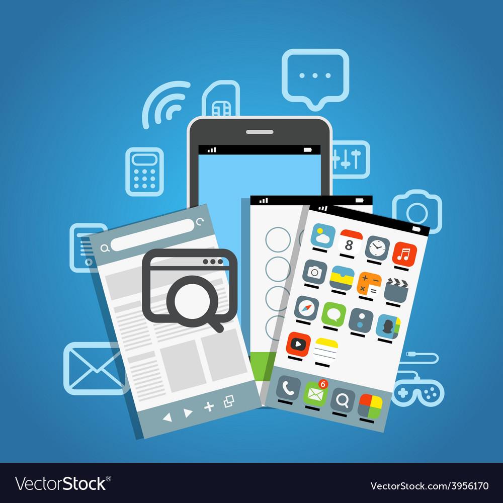 Modern smartphone vector | Price: 1 Credit (USD $1)