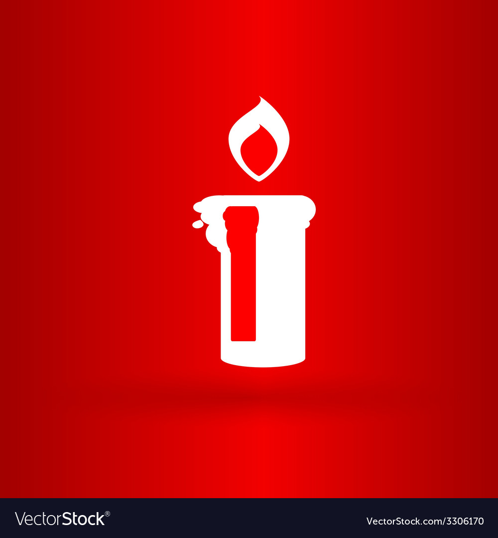 Nice christmas candle with flame vector | Price: 1 Credit (USD $1)