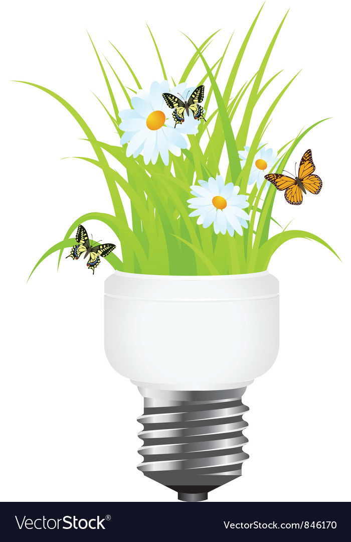 Power saving grass vector | Price: 1 Credit (USD $1)