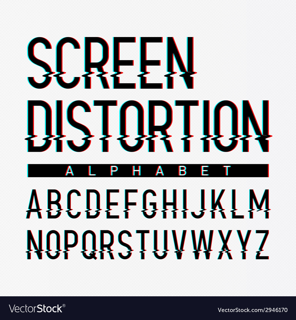 Screen distortion alphabet vector | Price: 1 Credit (USD $1)