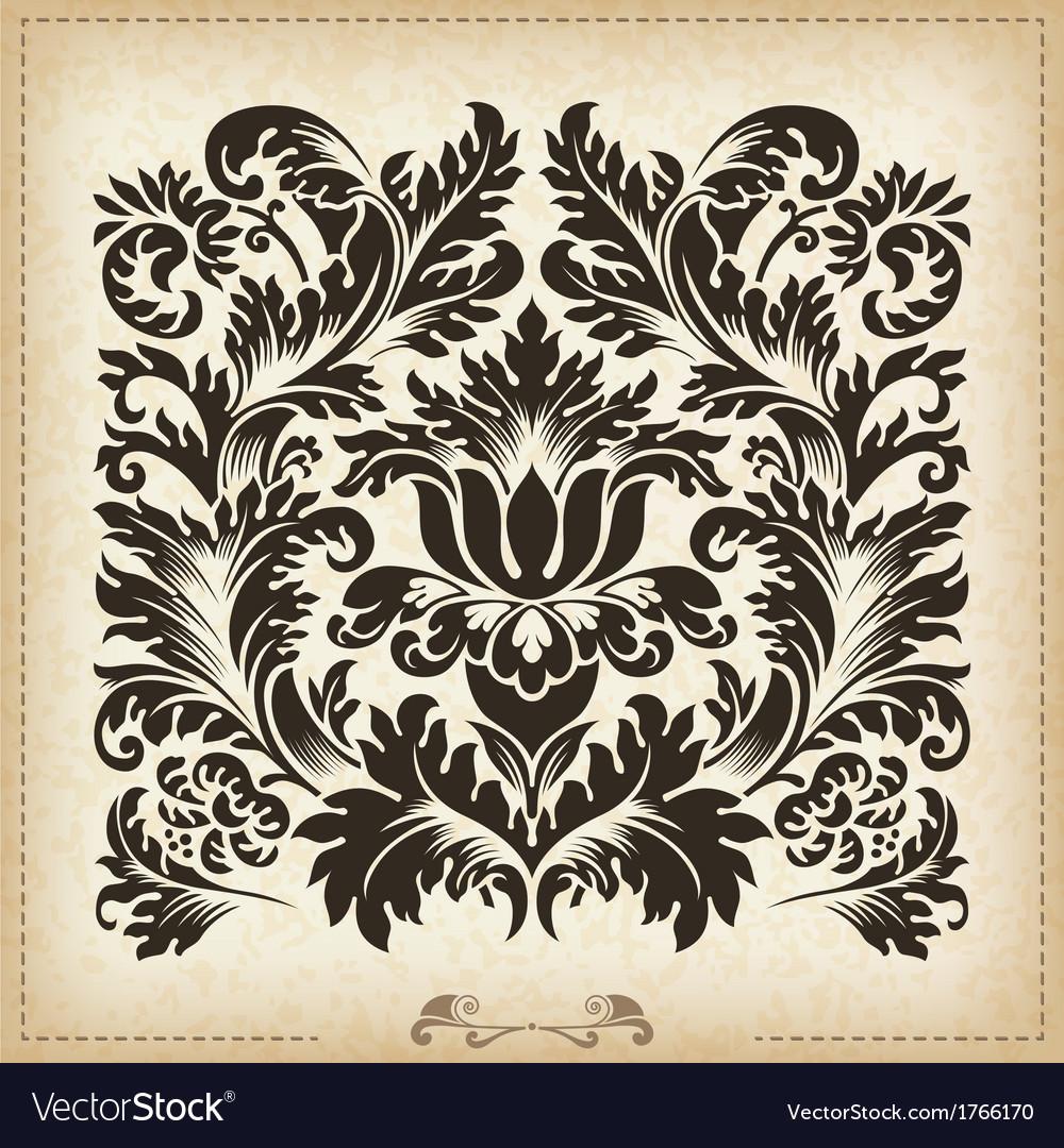 Vintage baroque border frame card cover vector   Price: 1 Credit (USD $1)