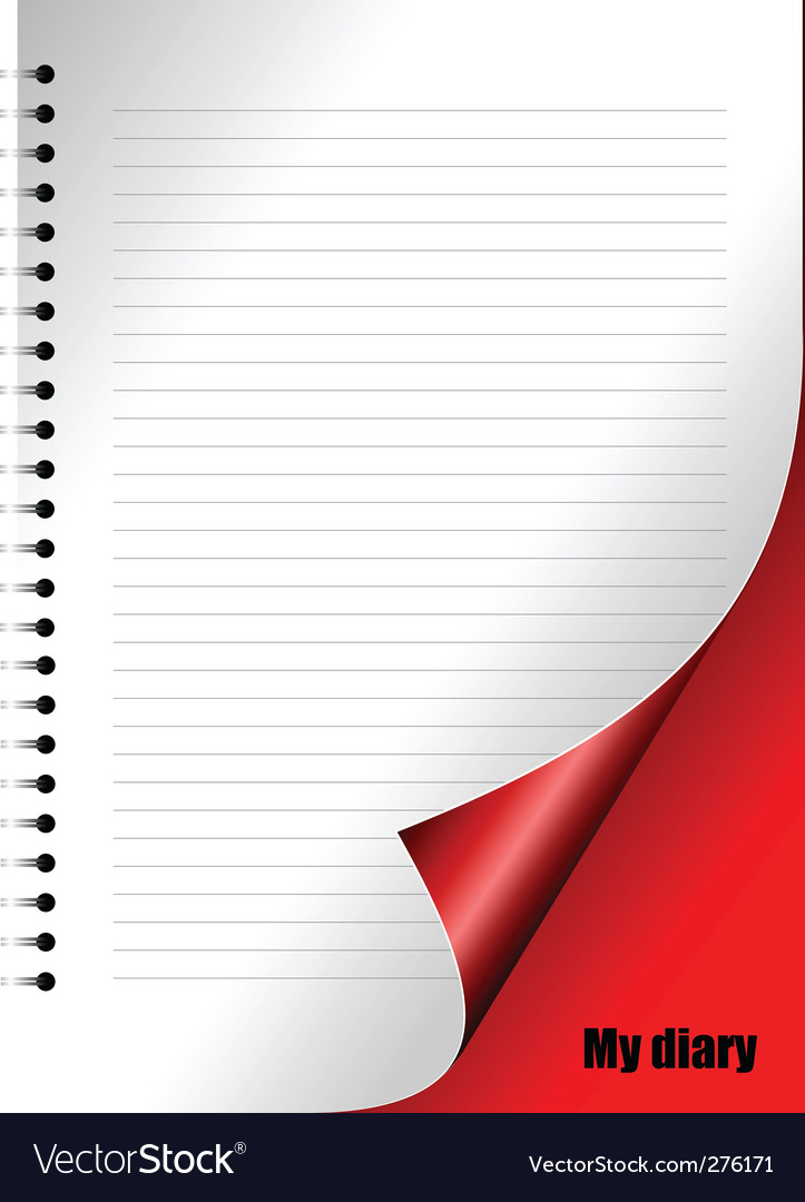 Diary page vector | Price: 1 Credit (USD $1)