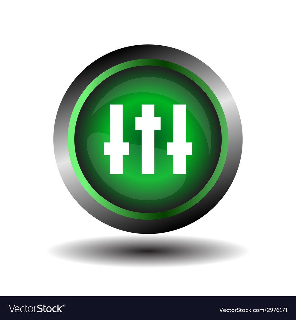 Equalizer green circle icon vector | Price: 1 Credit (USD $1)