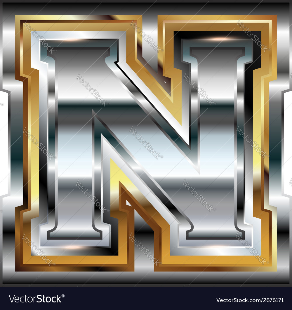 Fancy font letter n vector | Price: 1 Credit (USD $1)