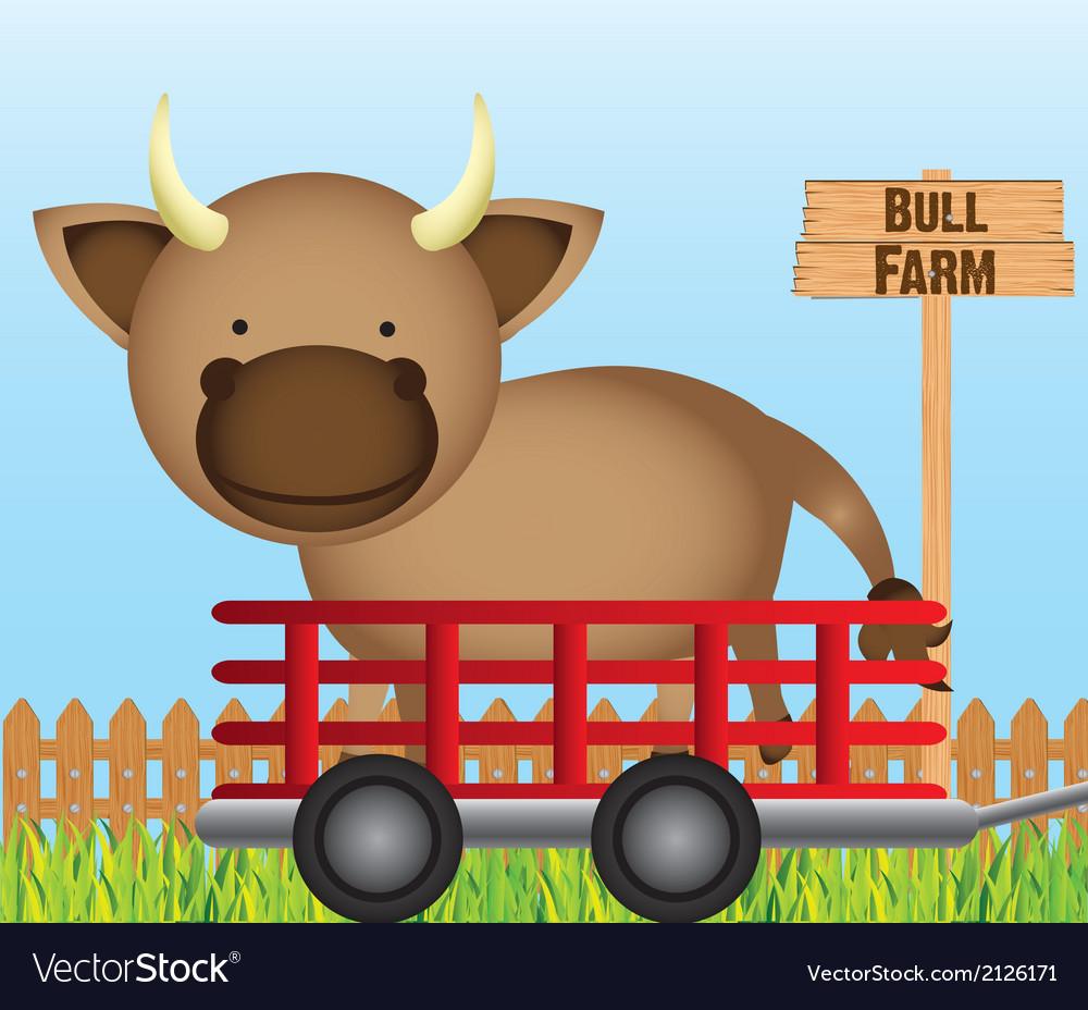 Farm cow vector | Price: 1 Credit (USD $1)
