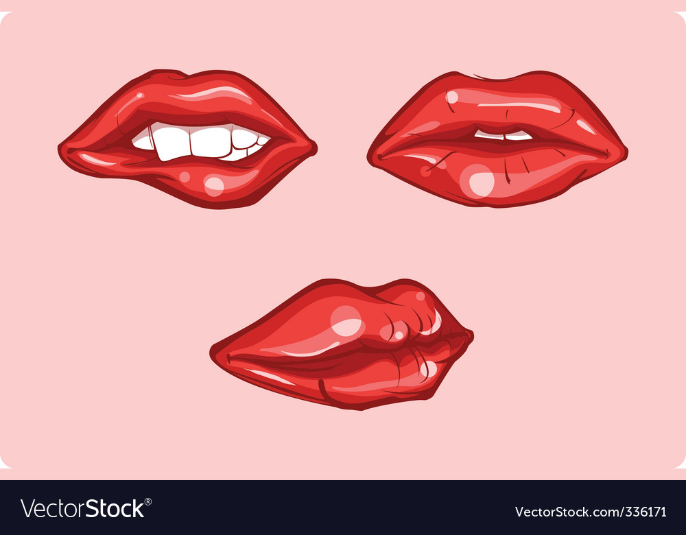 Red lips vector | Price: 1 Credit (USD $1)