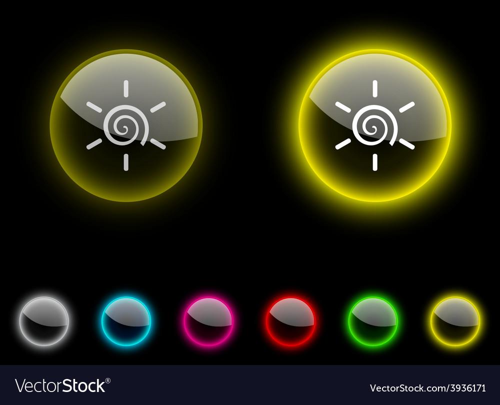 Sun button vector   Price: 1 Credit (USD $1)