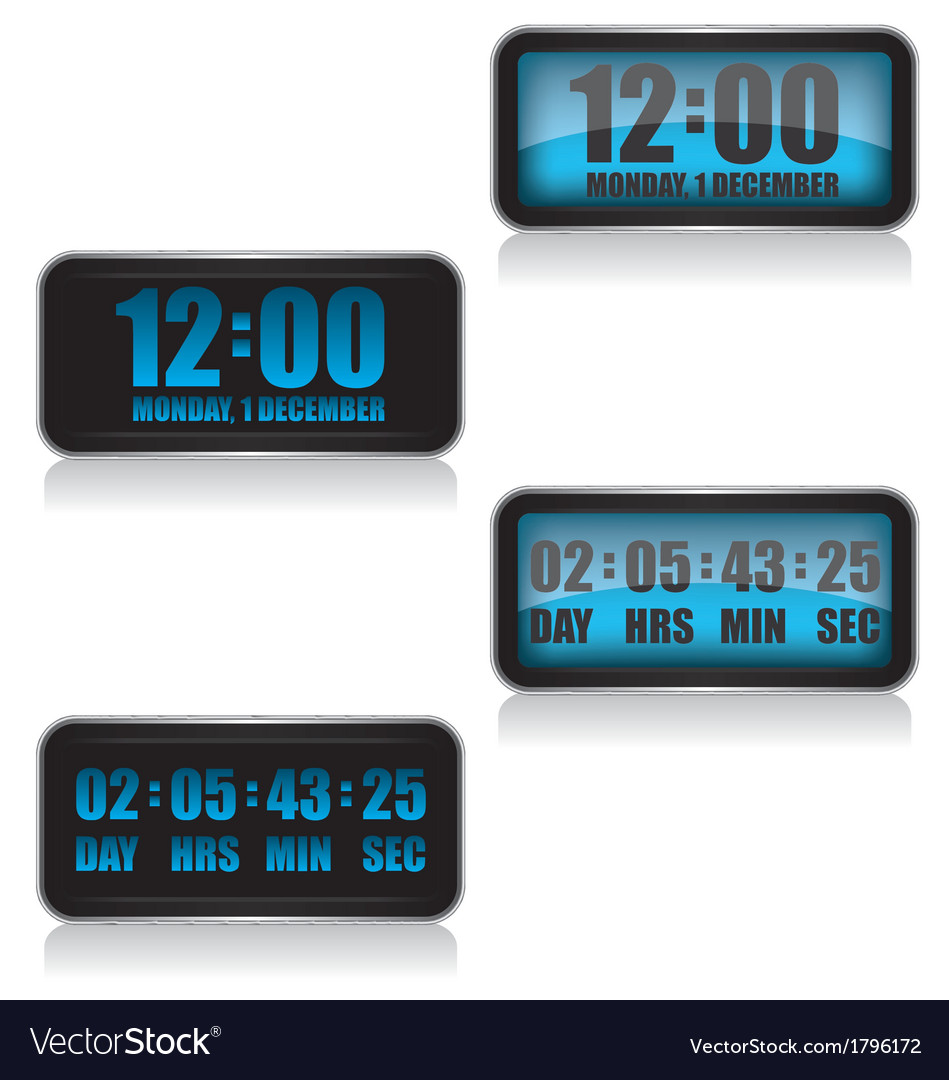 Digital clock and countdown vector | Price: 1 Credit (USD $1)