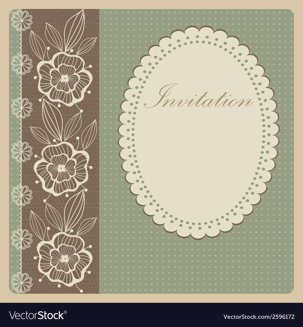 Invitation with lace vector | Price: 1 Credit (USD $1)