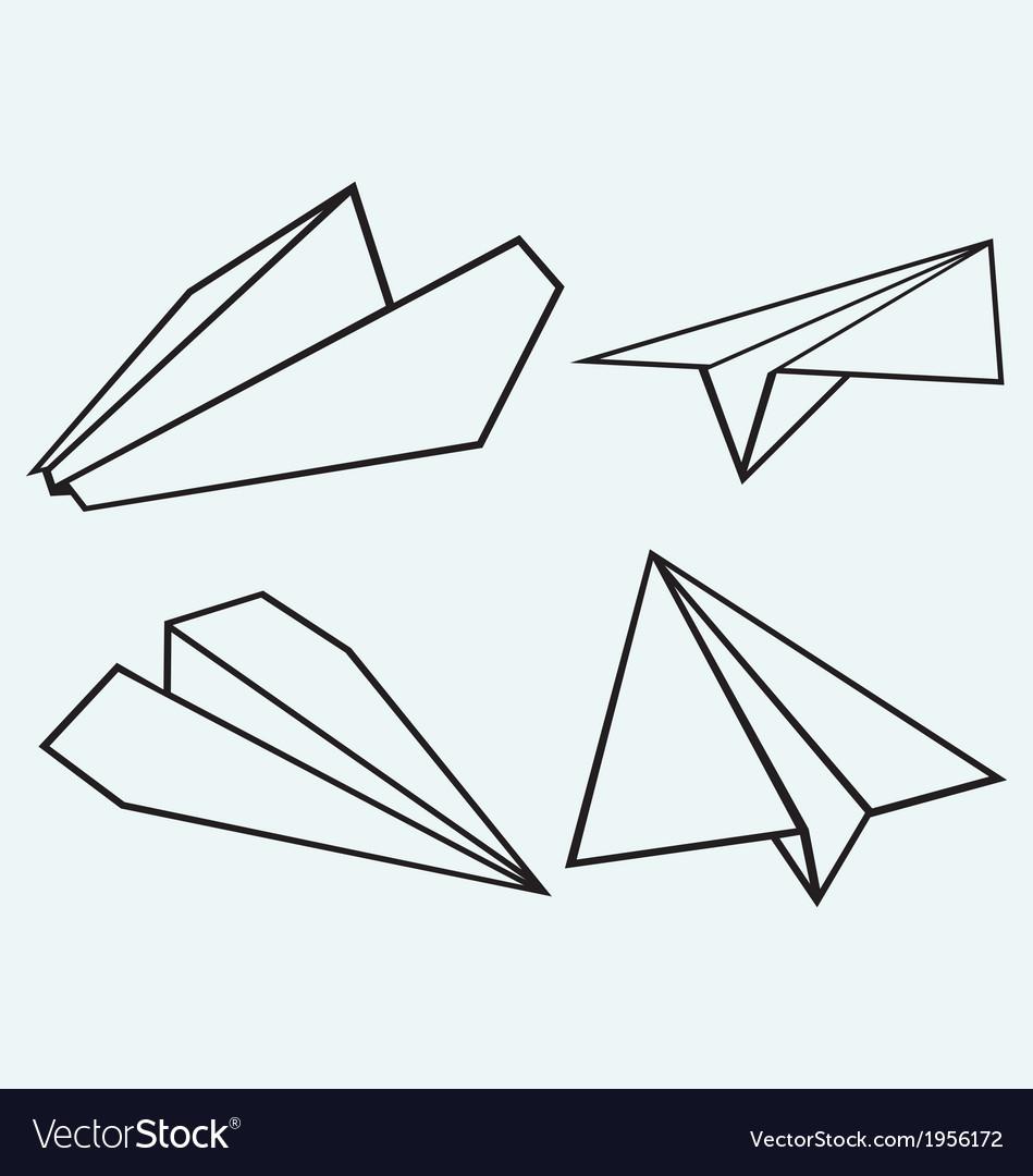 Paper plane vector | Price: 1 Credit (USD $1)