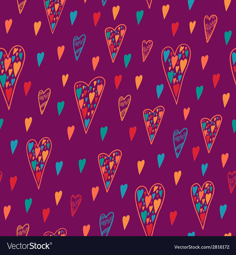 Seamless heart pattern for valentines day vector | Price: 1 Credit (USD $1)
