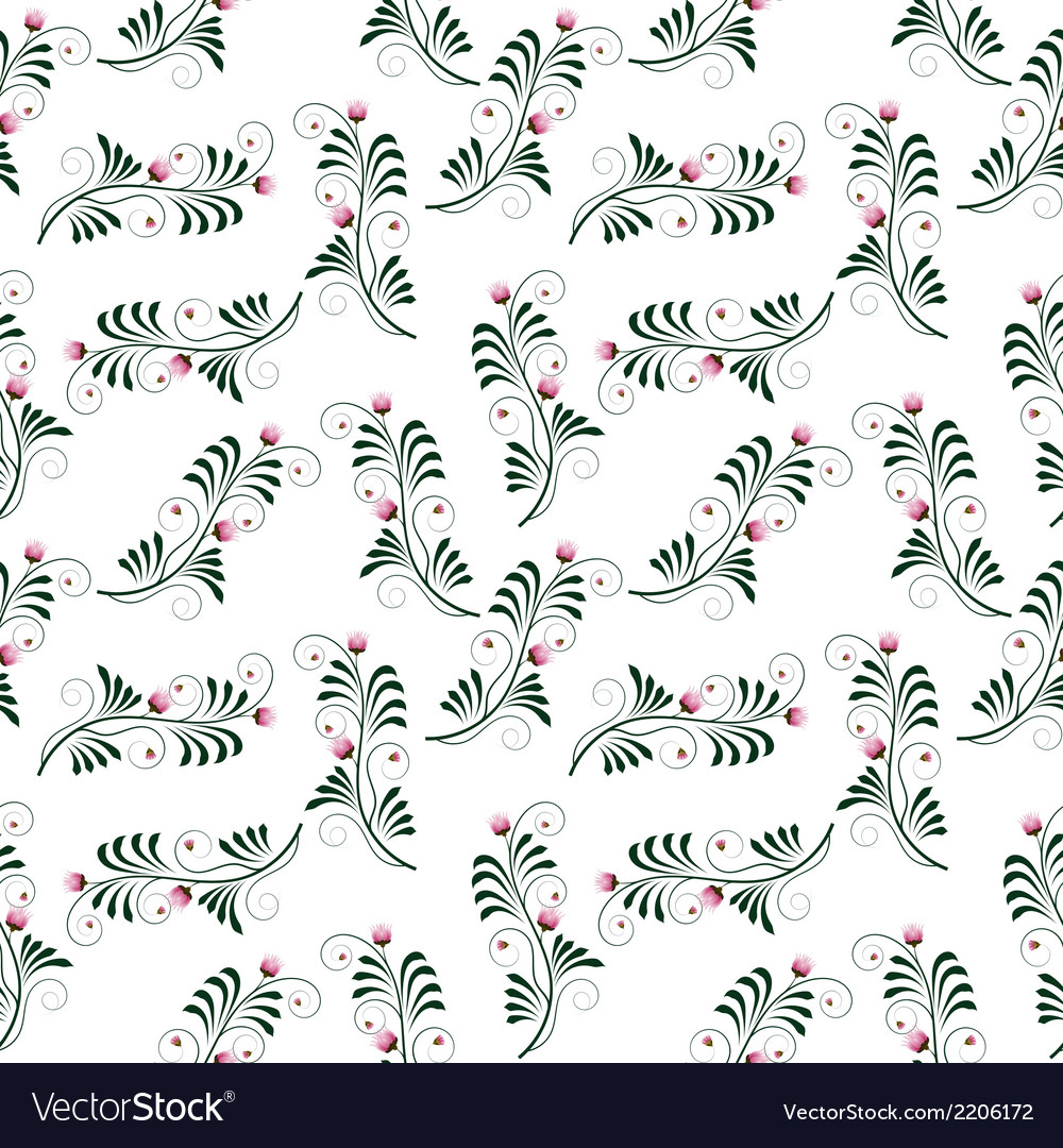Seamless patern with flowers vector | Price: 1 Credit (USD $1)