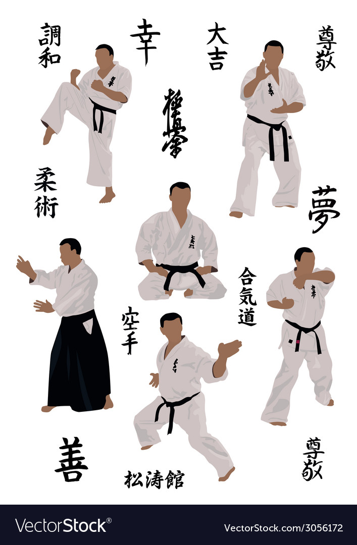 Set of images of karate vector | Price: 1 Credit (USD $1)
