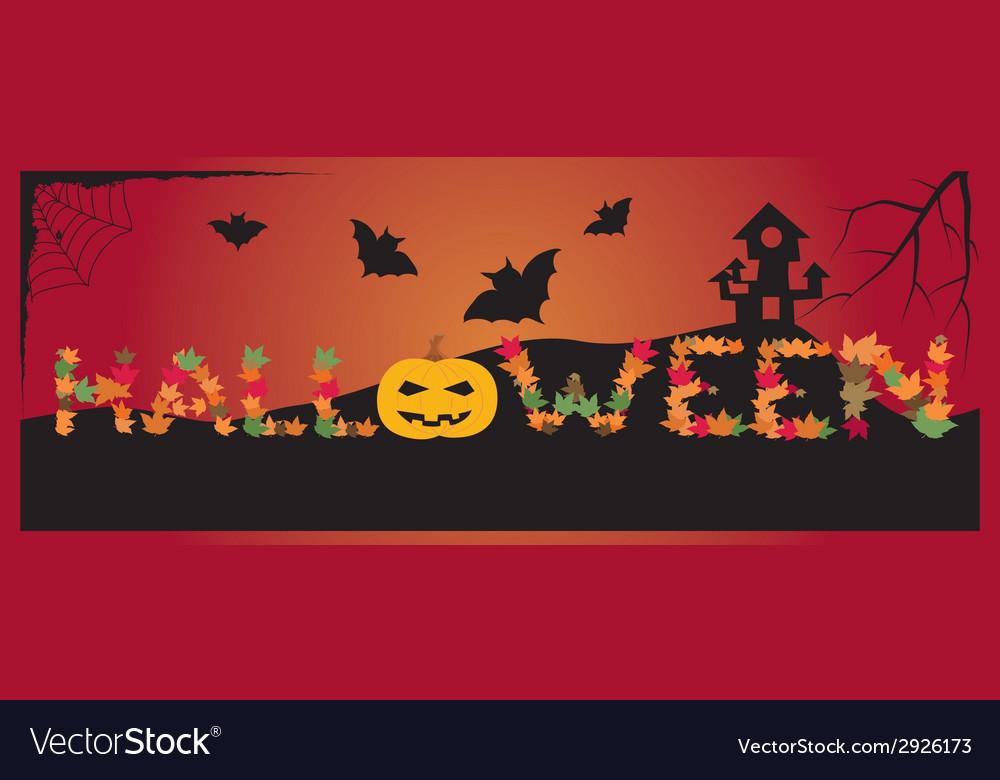 Banner halloween vector | Price: 1 Credit (USD $1)