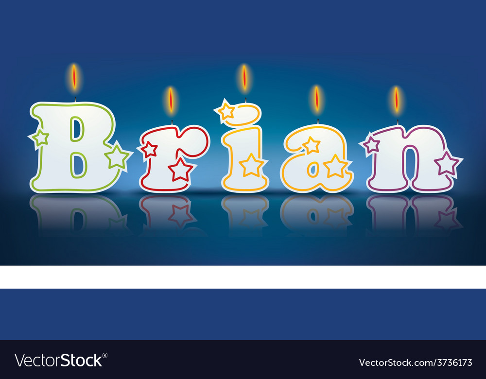 Brian written with burning candles vector | Price: 1 Credit (USD $1)