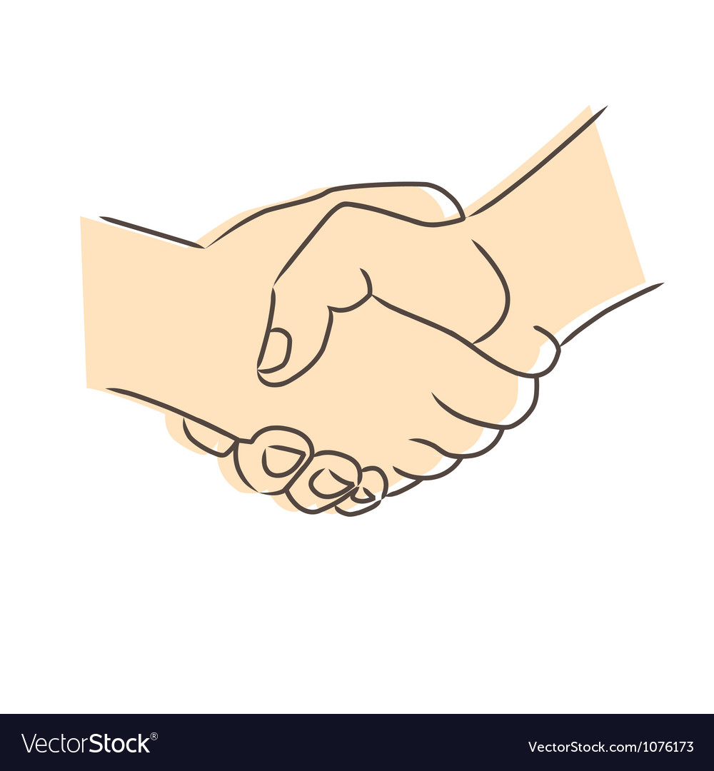 Drawing of handshake vector | Price: 1 Credit (USD $1)