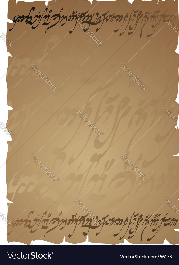 Elven manuscript horizontal vector | Price: 1 Credit (USD $1)