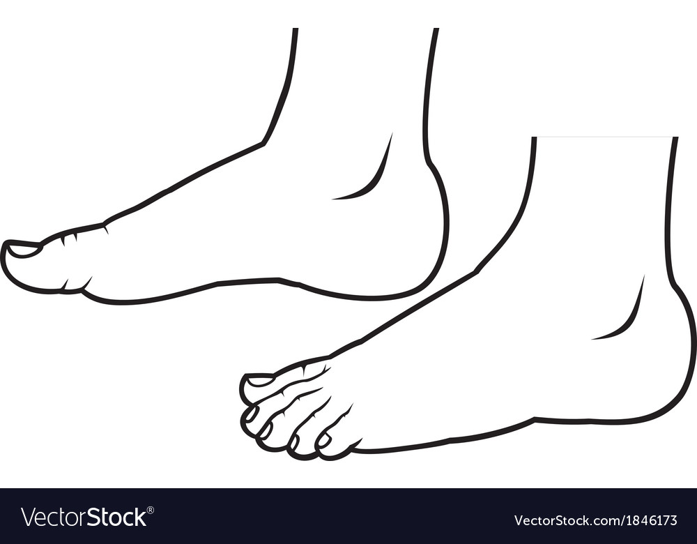 Feet standing vector | Price: 1 Credit (USD $1)