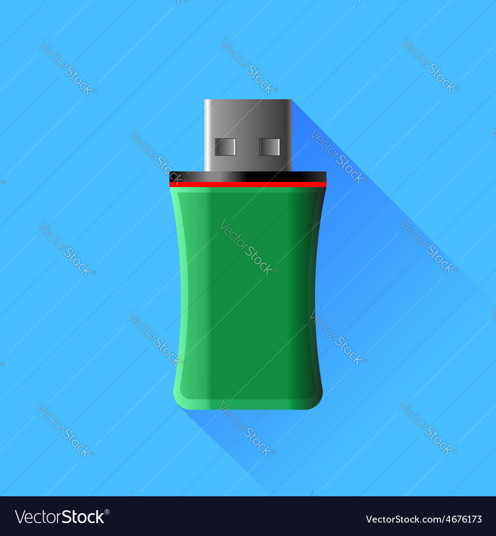 Green memory stick vector | Price: 1 Credit (USD $1)