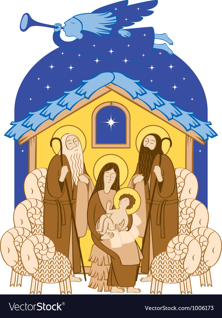Mary and jesus vector | Price: 3 Credit (USD $3)