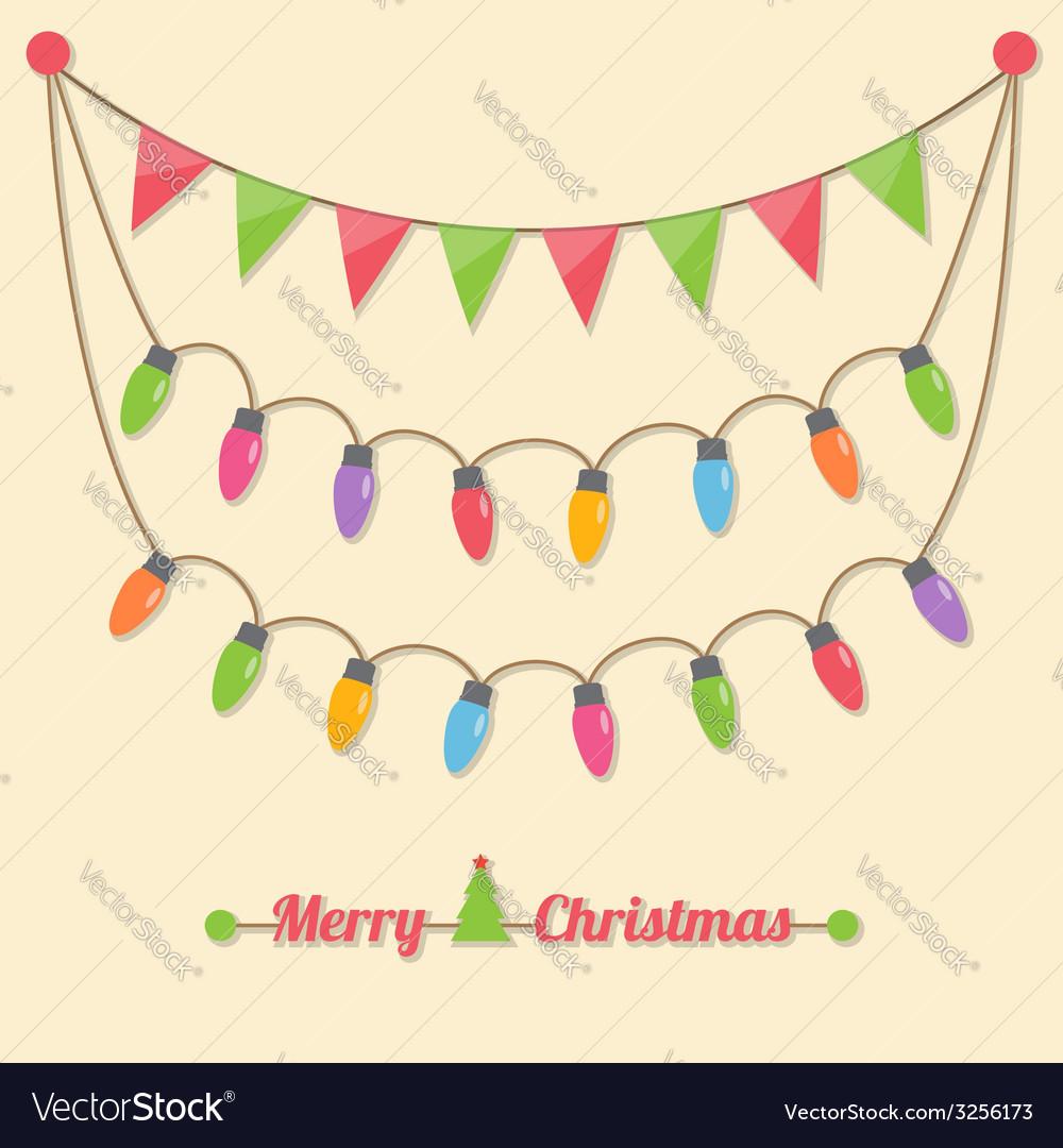 Party christmas light bulbs vector