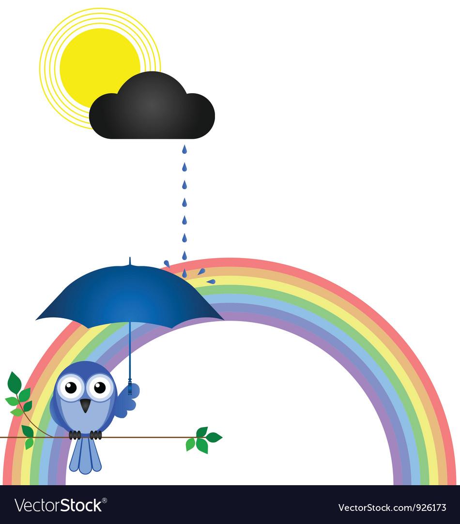 Rainbow branch vector | Price: 1 Credit (USD $1)