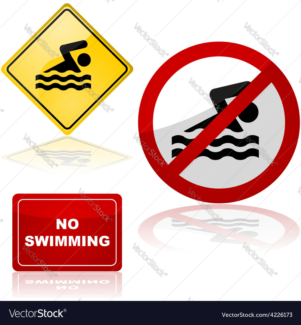 Swimming signs vector | Price: 1 Credit (USD $1)