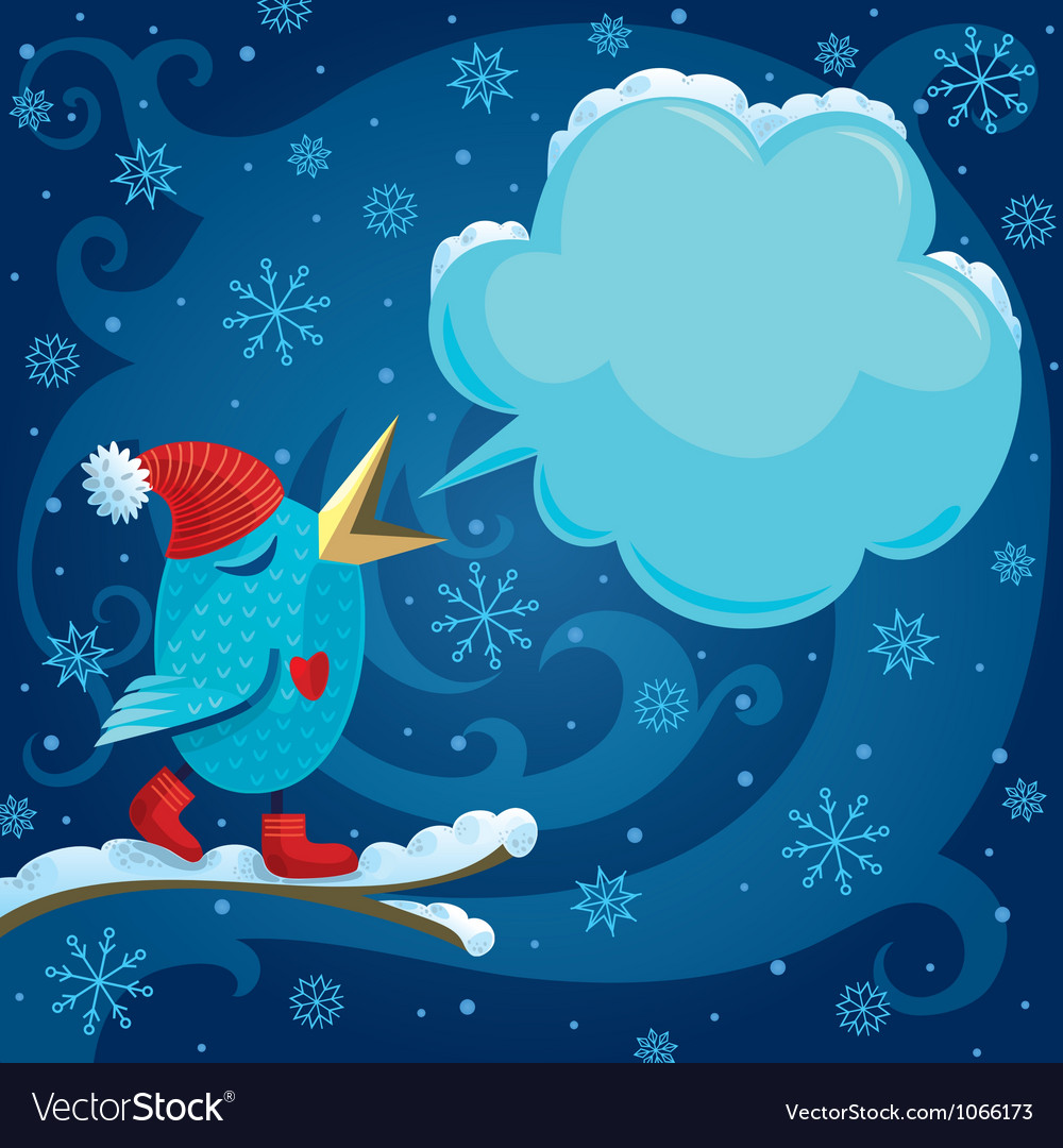 Winter bird vector | Price: 3 Credit (USD $3)