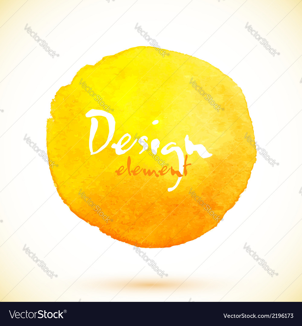 Yellow watercolor circle design element vector | Price: 1 Credit (USD $1)