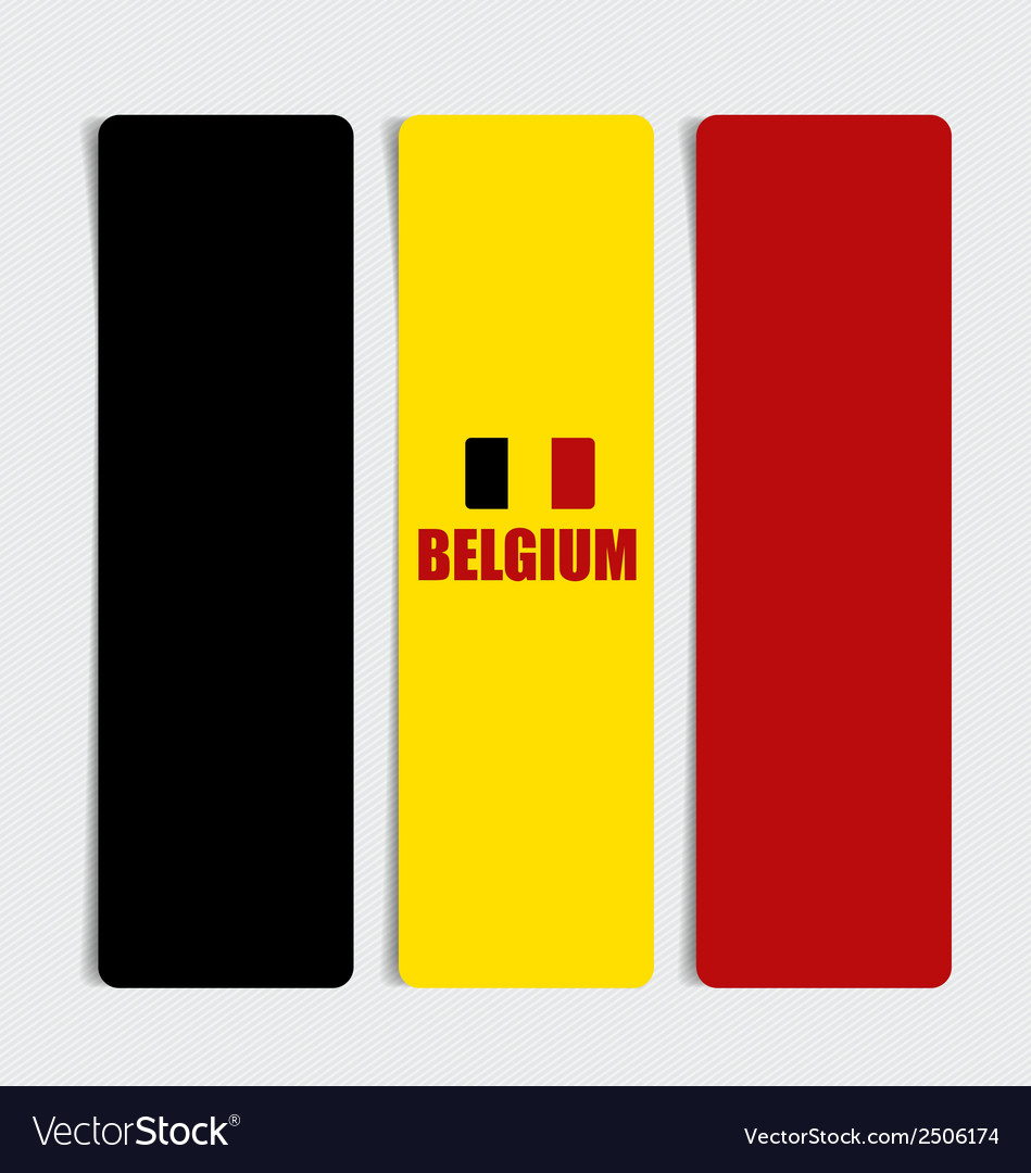 Belgium flags concept design vector | Price: 1 Credit (USD $1)