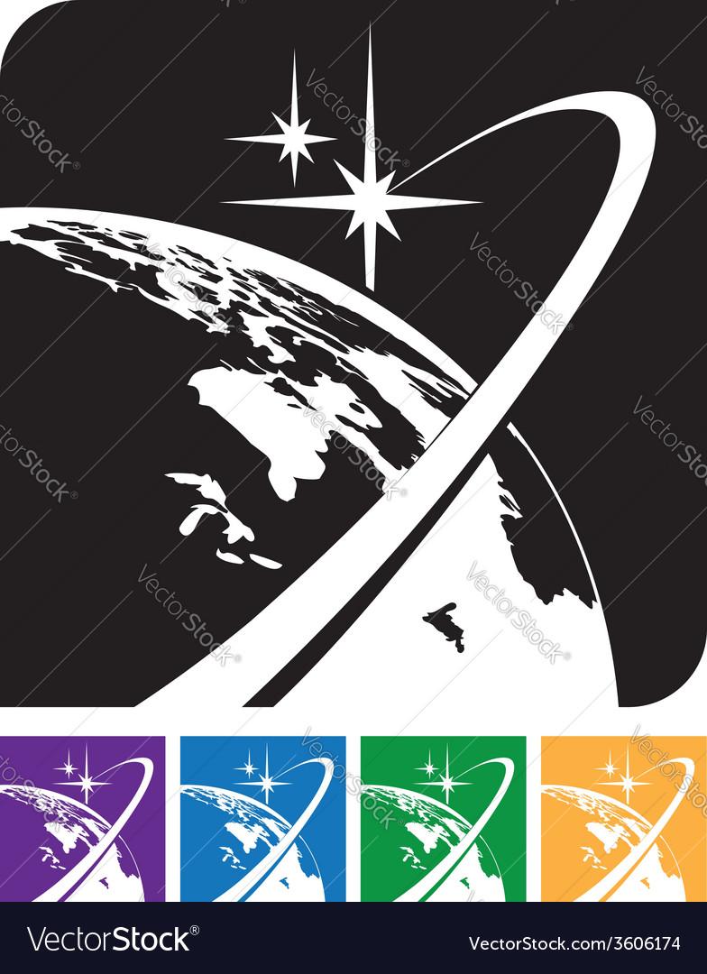 Earth orbit vector   Price: 1 Credit (USD $1)