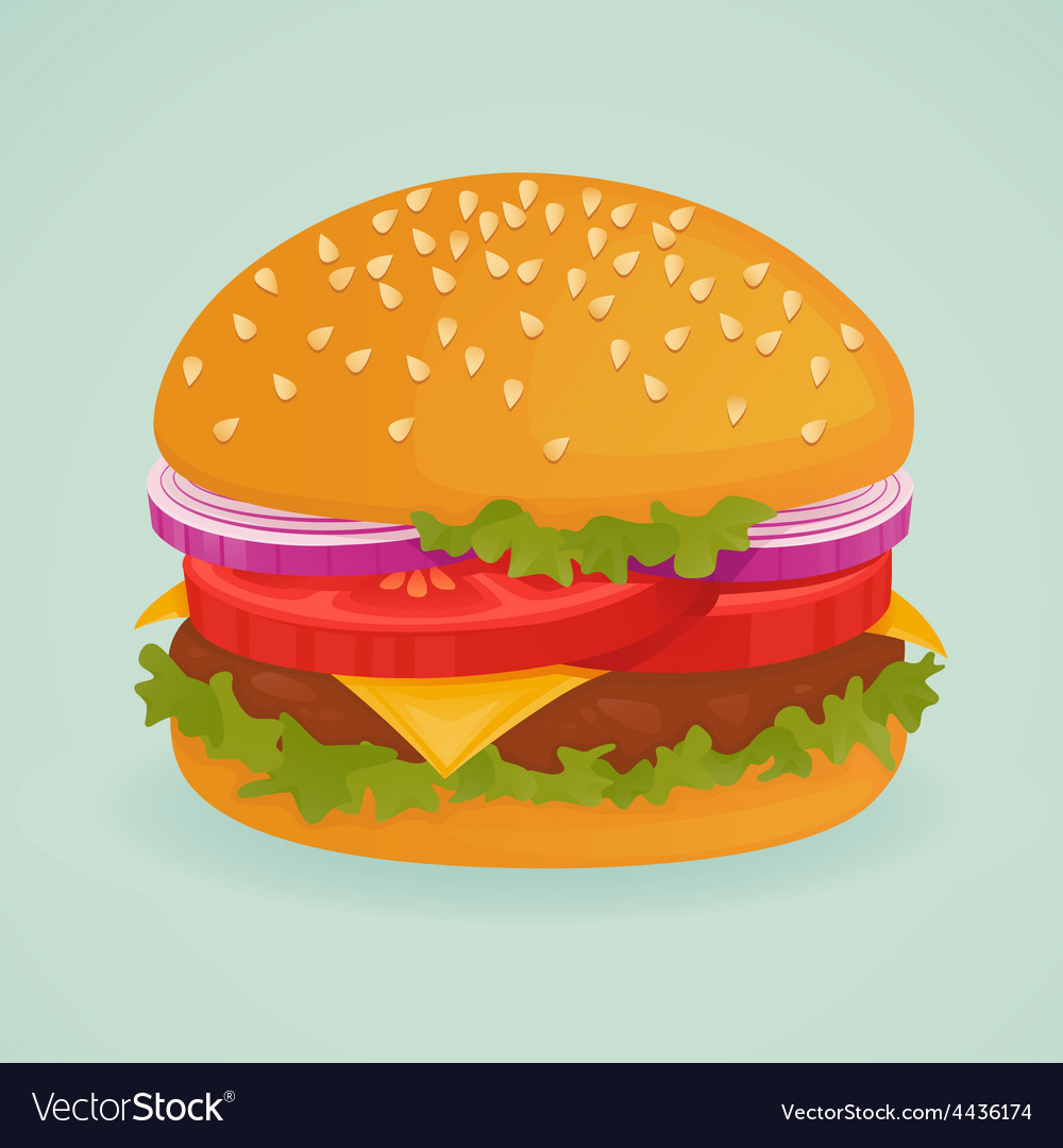 Hamburger vector | Price: 1 Credit (USD $1)