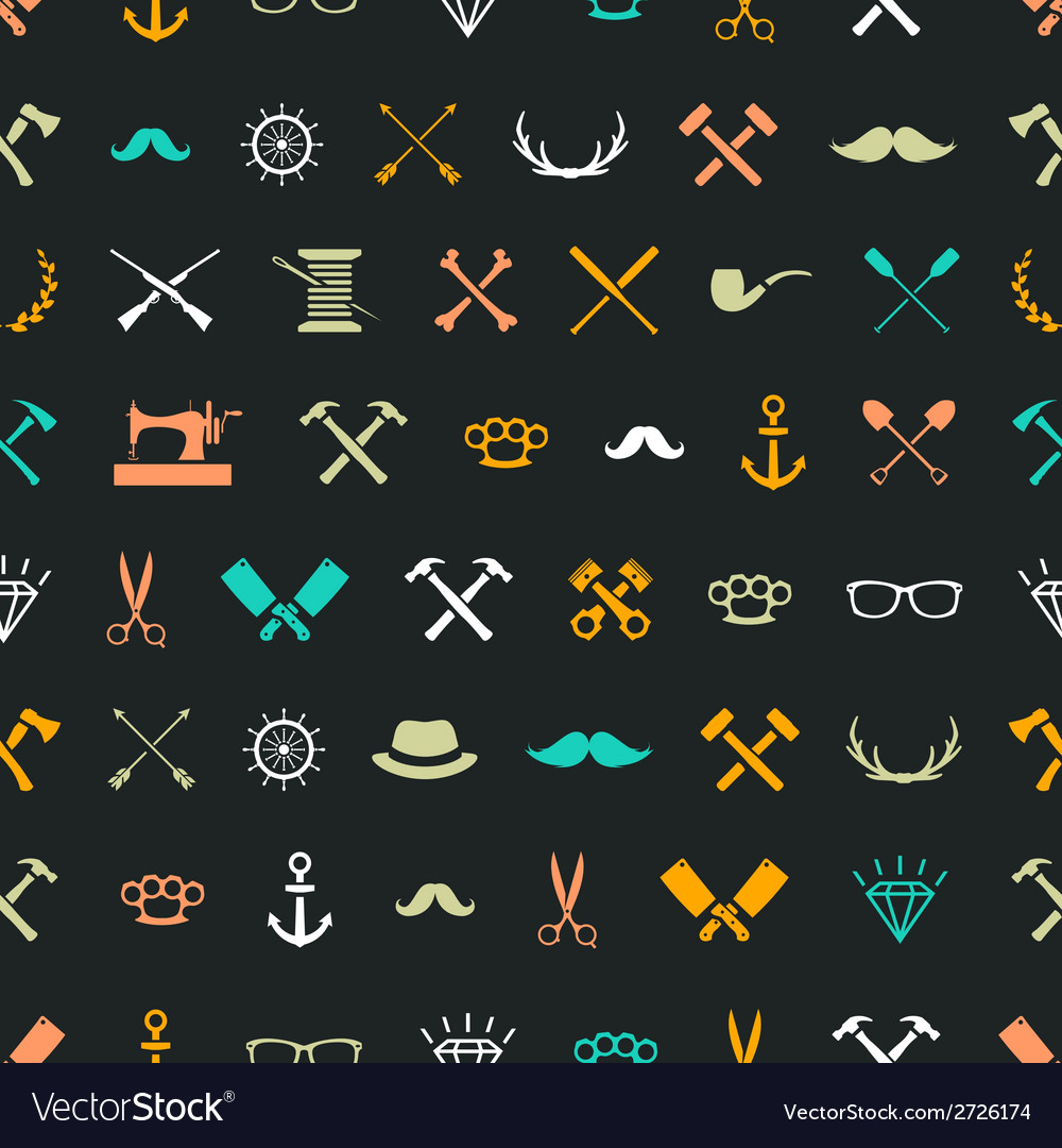 Hipster seamless 1 vector | Price: 1 Credit (USD $1)