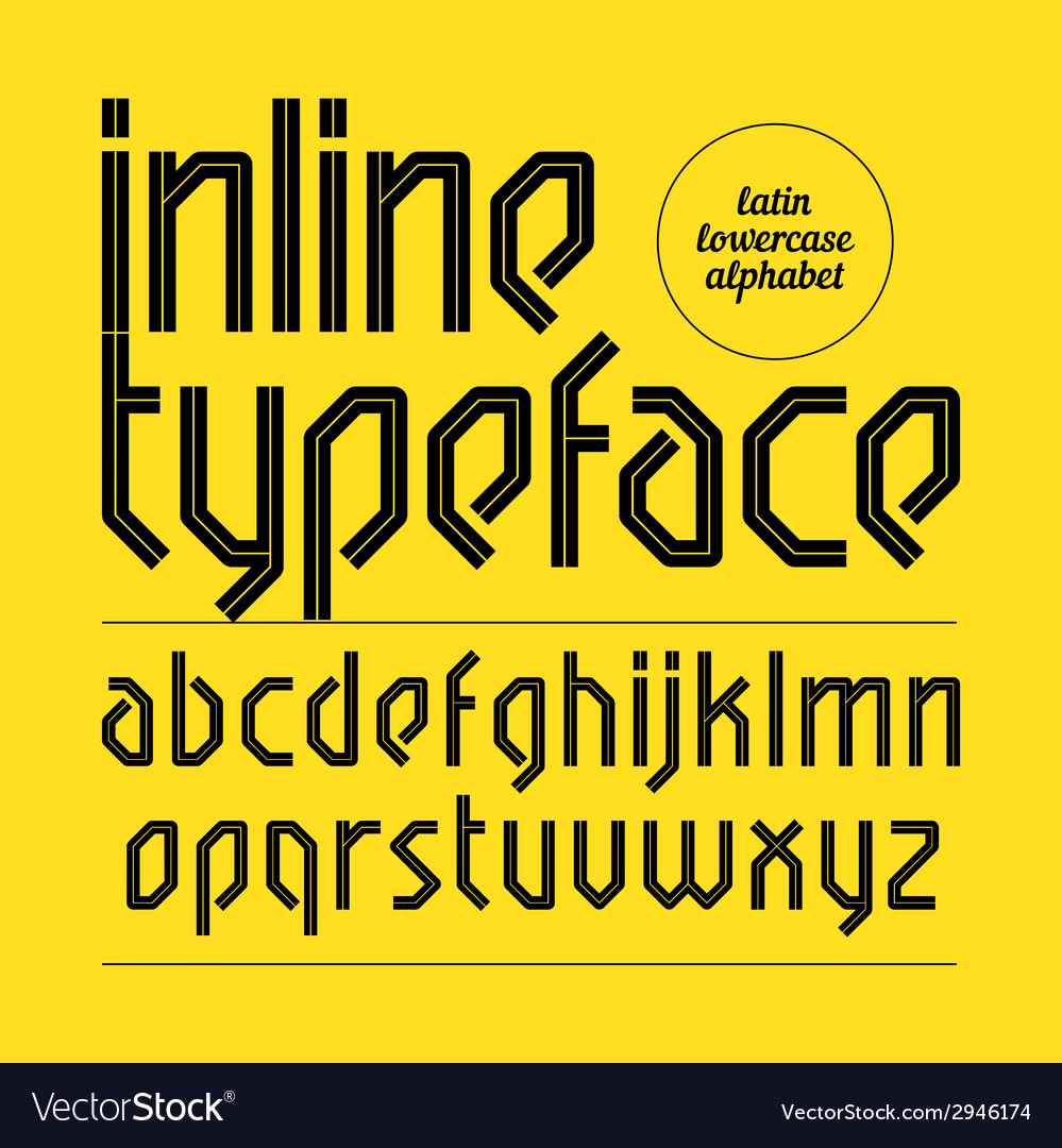 Modern inline typeface vector | Price: 1 Credit (USD $1)